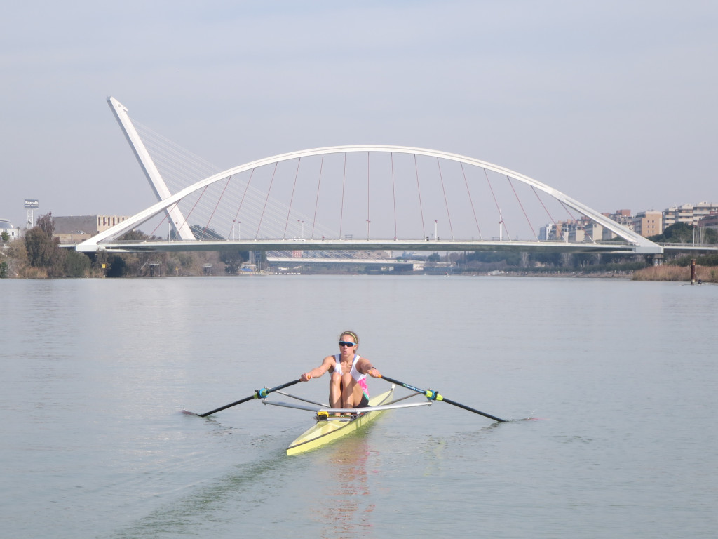 Gevvie rowing in Sevillle
